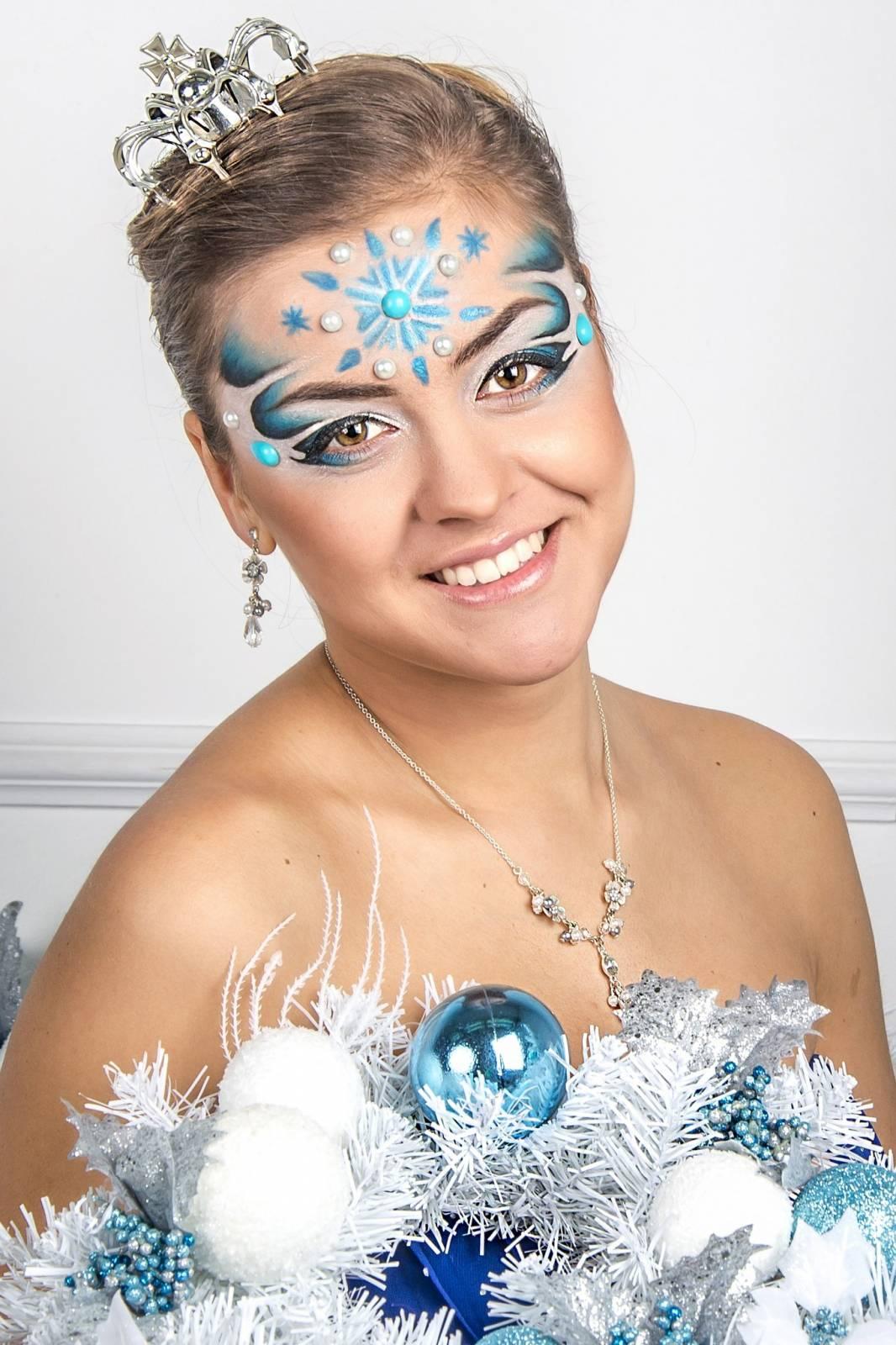 Макияж для снежной королевы фото